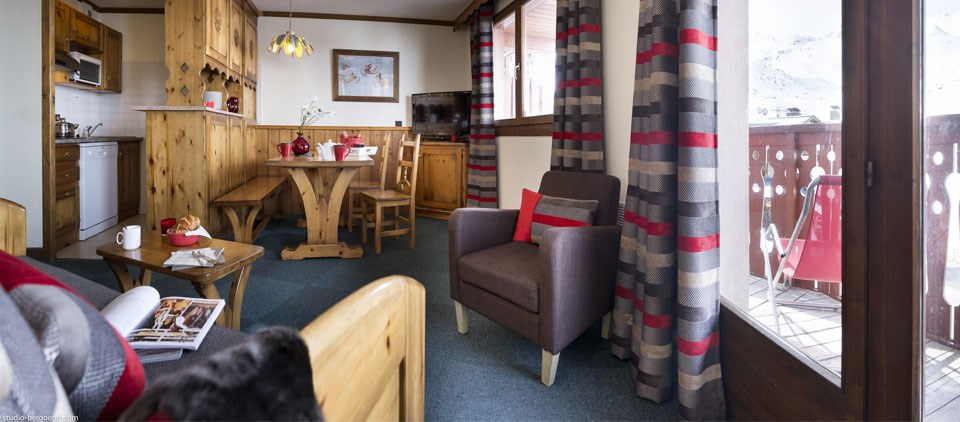 serviced ski apartment Valthorens
