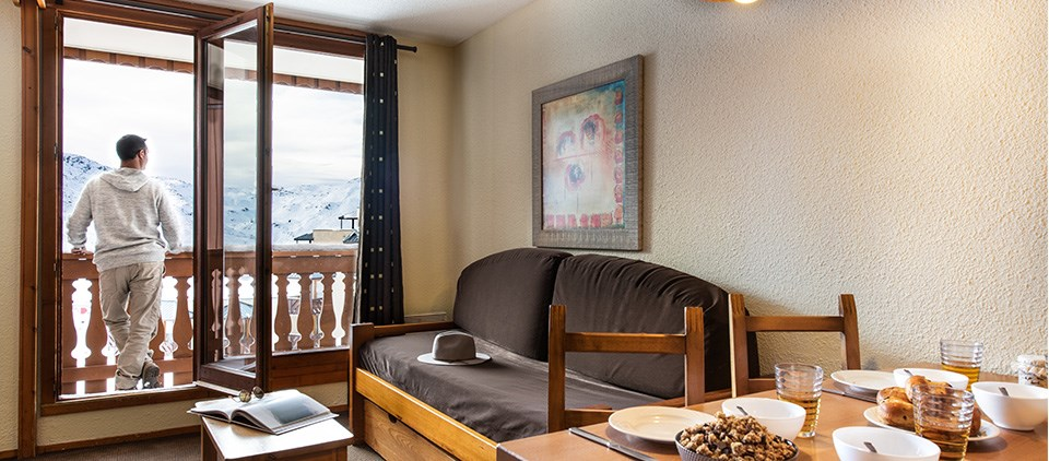 catered ski apartment Val Thorens